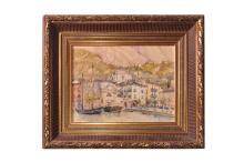 "Adolf Wiesler (1878-1958) ""View of Malcesine on Lake Garda"" | Adolf Wiesler ( 1878-1958) ""Blick auf Malcesine am Gardasee"""