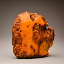 Heavy and stunning looking Yellow Color Baltic Amber stone (796.4 g.)