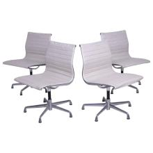 Early Aluminum Group Herman Miller Eames Chairs with Five-Star Base