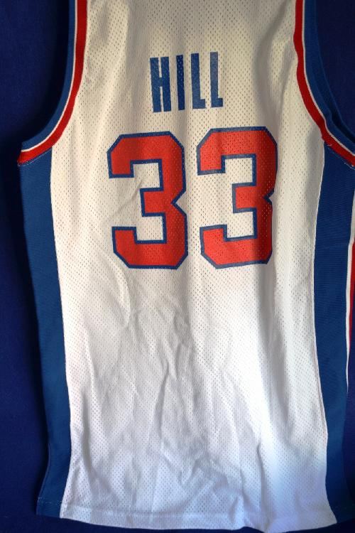 quality design 33ece a069b Detroit Pistons 1994-1995 Grant Hill Game Used Jersey