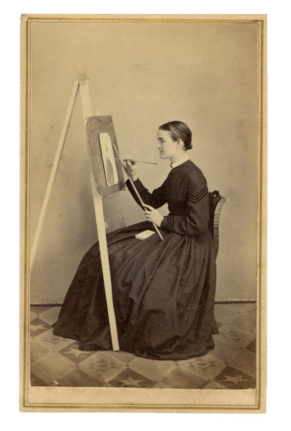PORTRAIT OF A YOUNG ARTIST [CDV]