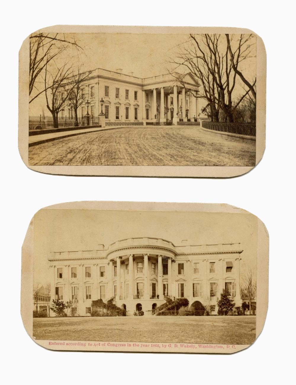 (2) FINE CDVS: LINCOLN WHITE HOUSE