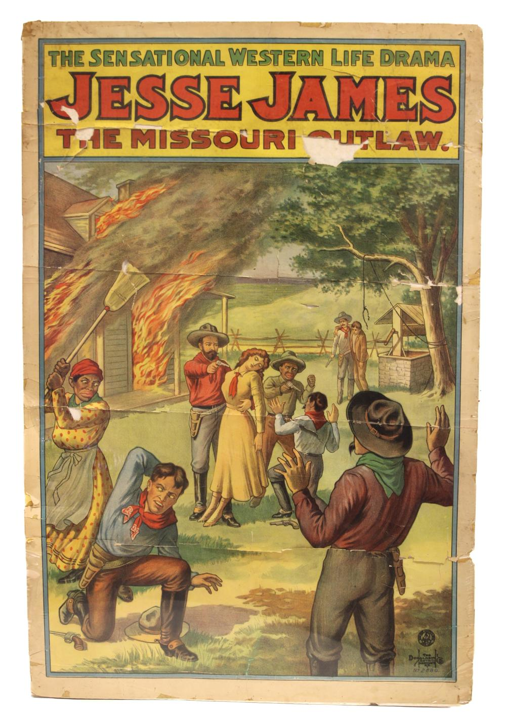 C. 1910 POSTER, OUTLAW JESSE JAMES