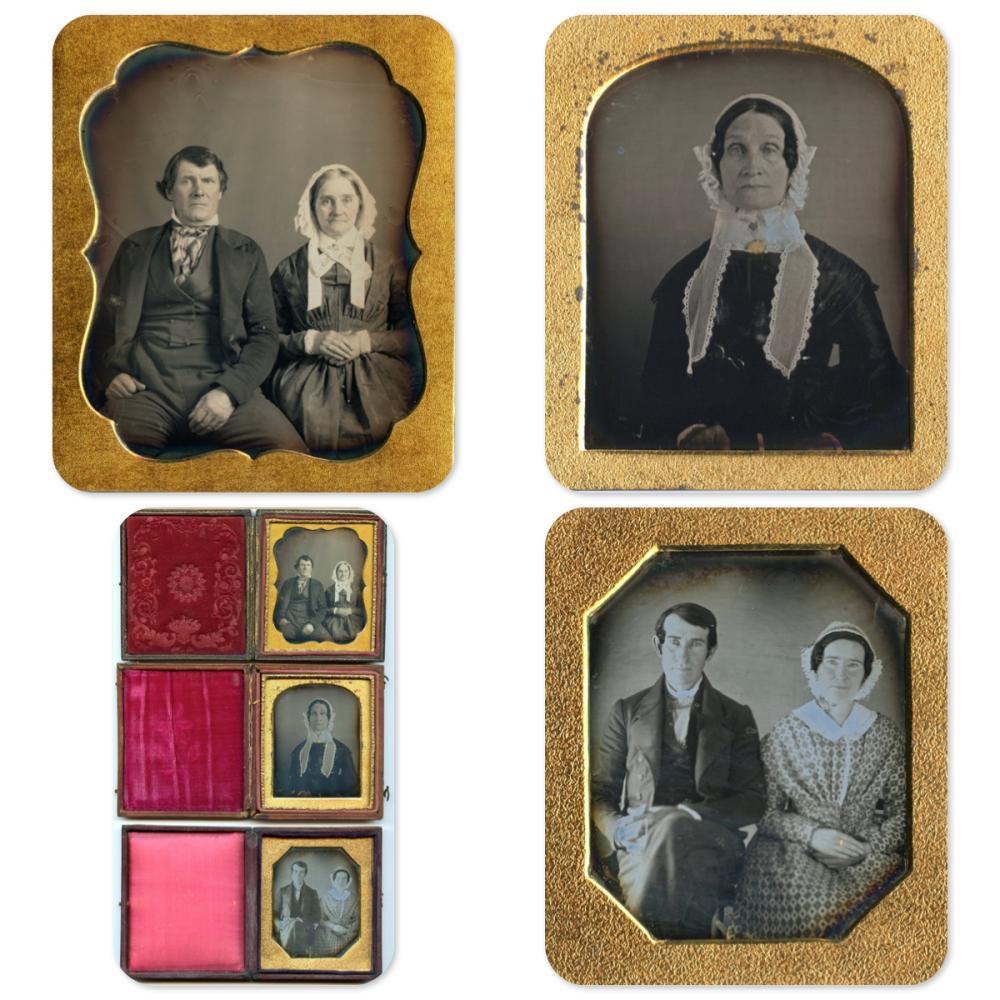 Fine Sixth Plate Daguerreotypes- Lot of Three