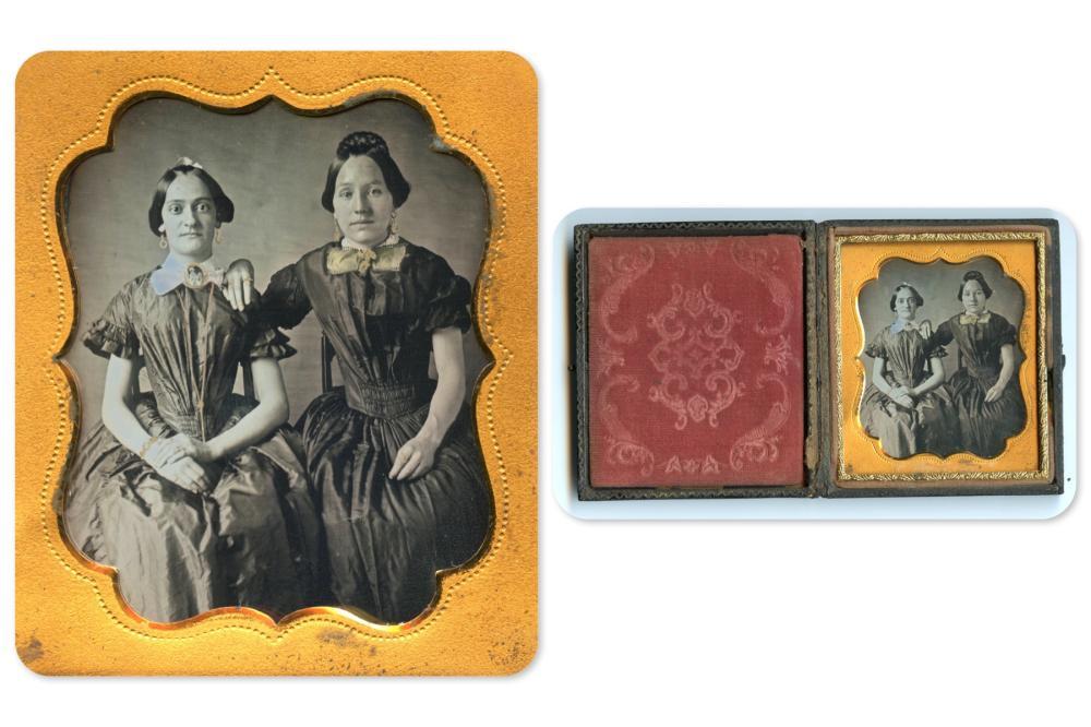 Exquisite Sixth Plate Daguerreotype of Two Women