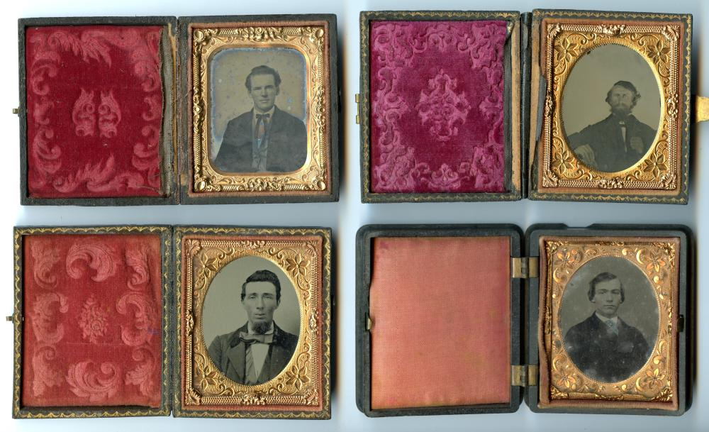 Four Ninth Plate Images of Men