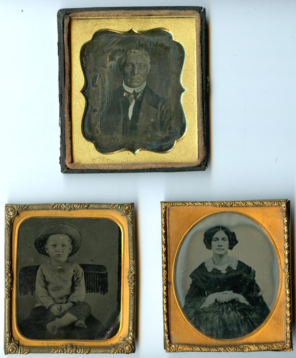 Three Images- Daguerreotype, Tintype, Ambrotype