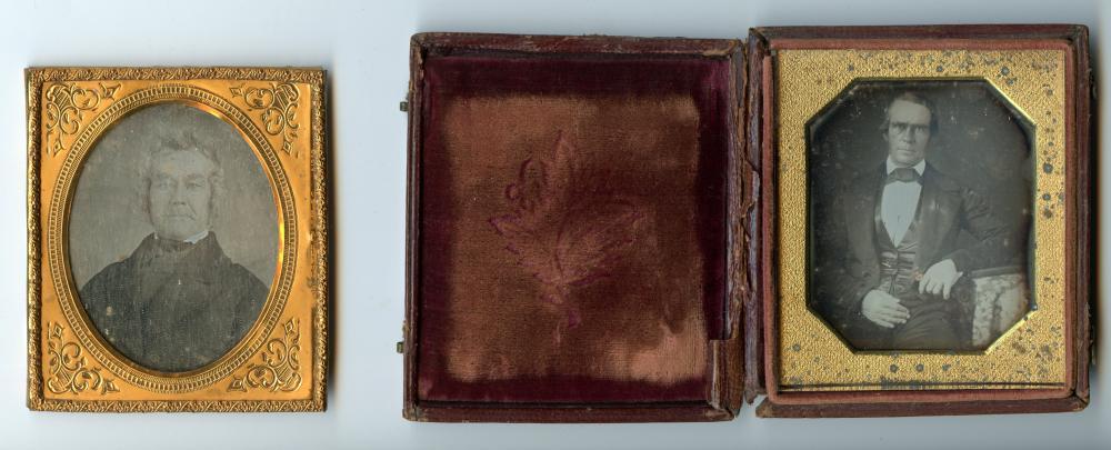 Daguerreotype Duo, Early Example and Elderly Man