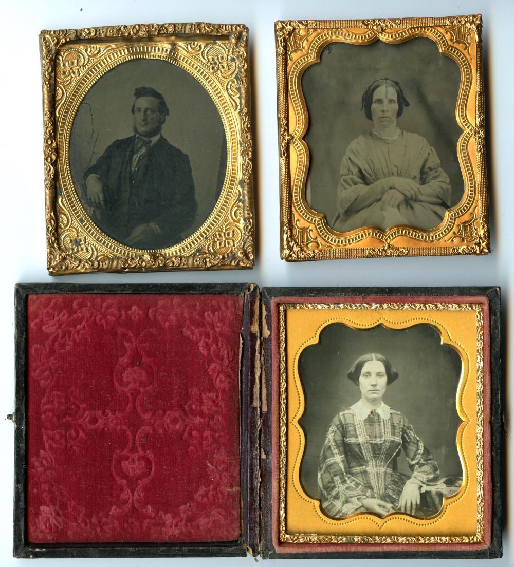 Three Seated Sixth Plate Portraits