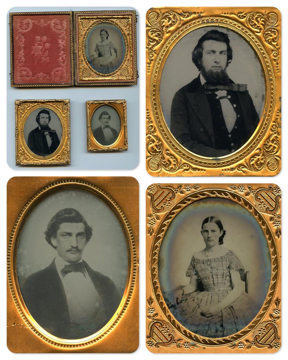 Three Portraits, One Relievo Ambrotype