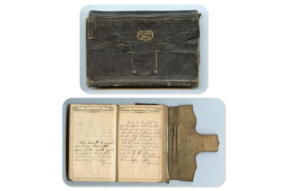 1863 Civil War Dated Diary