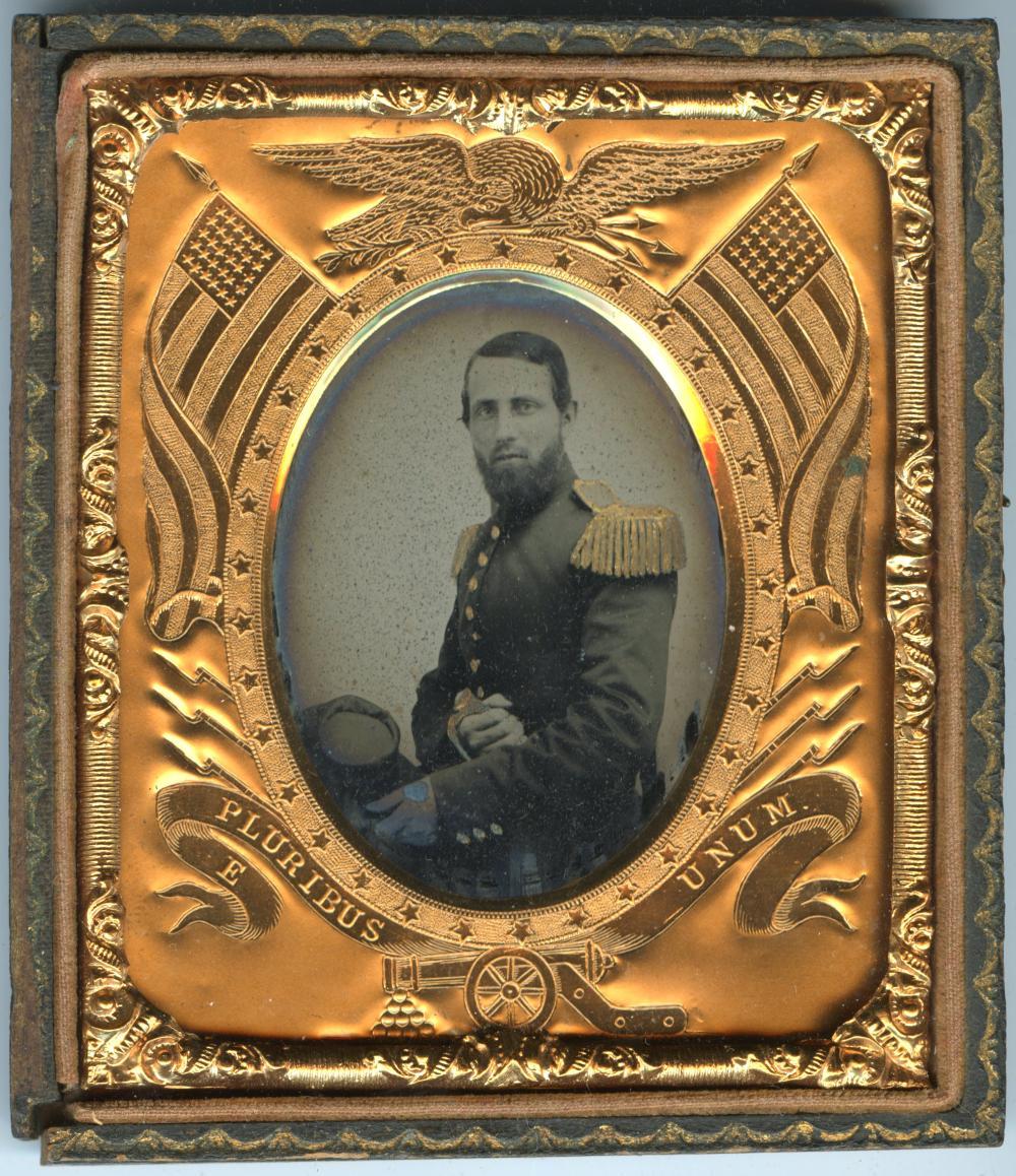 Gallant Ambrotype Civil War Officer