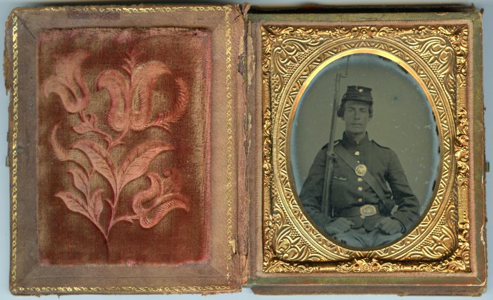 Civil War New York Soldier Ambrotype