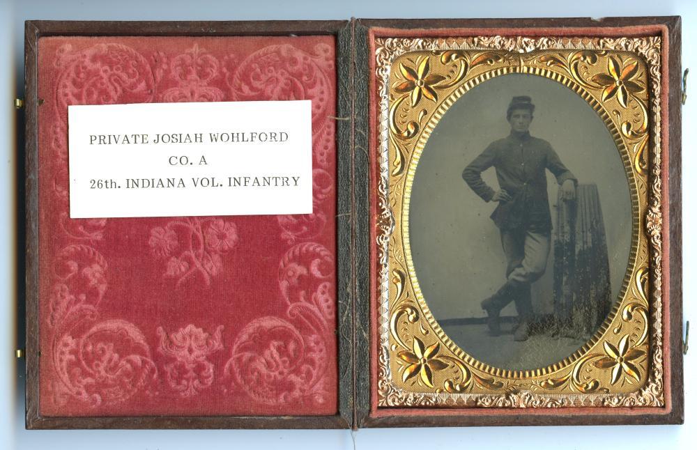 Identified Indiana Soldier Civil War Tintype
