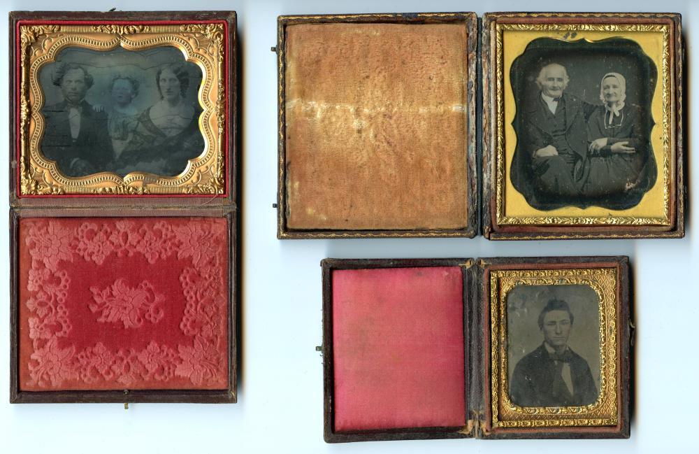Three Images, Three Mediums- Tintype, Ambrotype, Daguerreotype