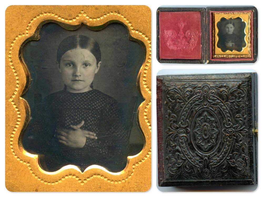 Rare Gem-Sized Daguerreotype of Girl