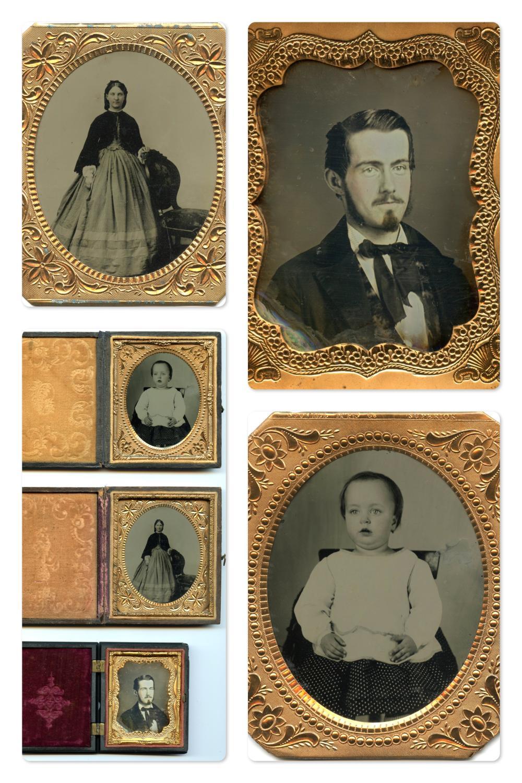 Group of Three Fine Portraits