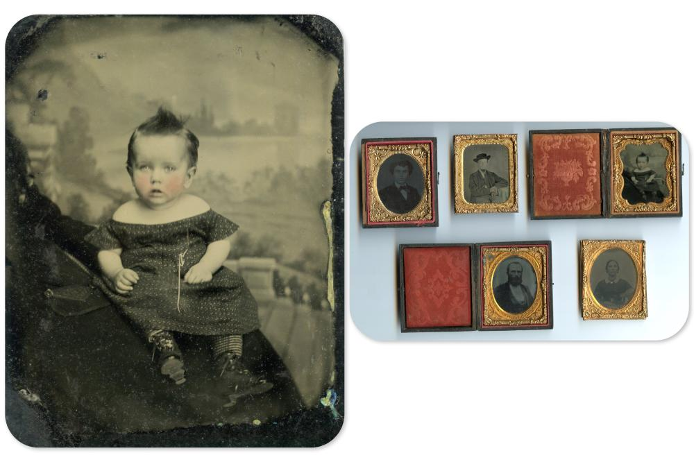 "Five Ninth Plate Images Including ""Hidden Mother"""