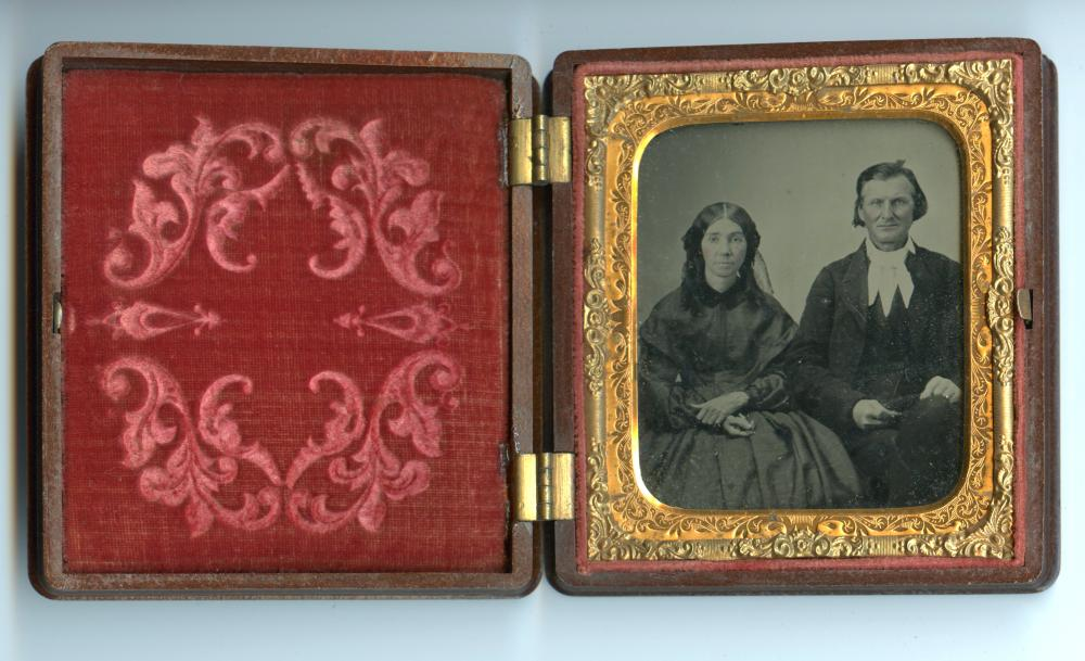 Sixth Plate of Couple Housed in Nice Case