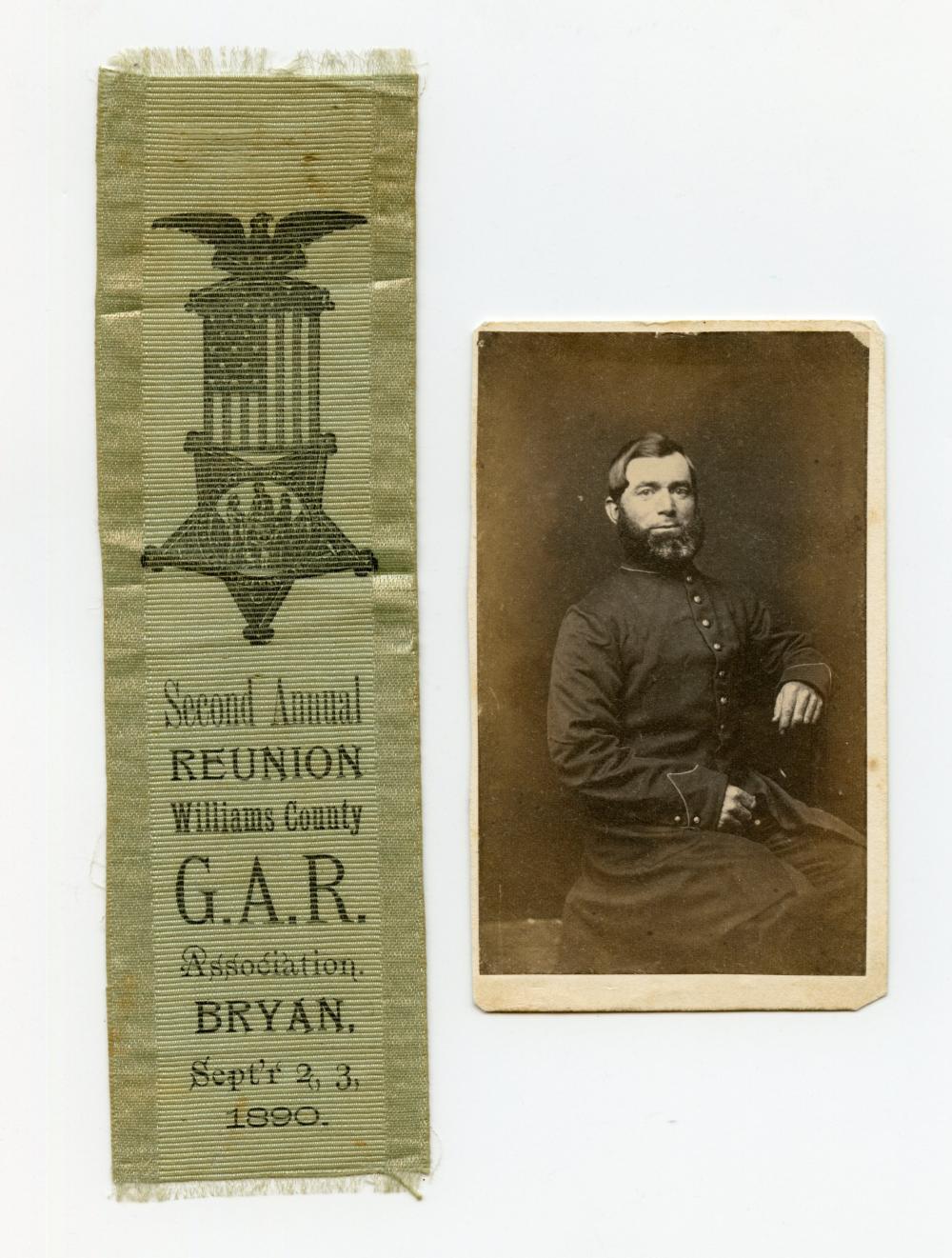 Civil War GAR Ribbon and CDV