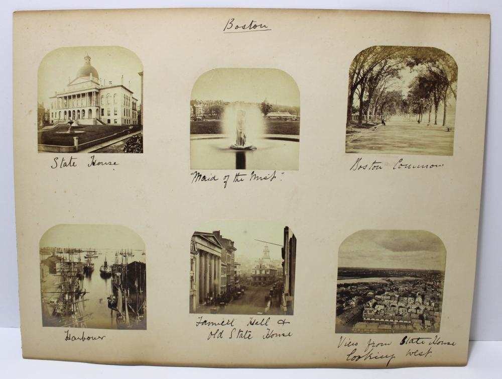 Boston and NY Albumen Images- Renowned Photographer