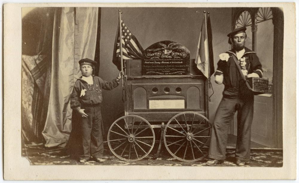 Civil War CDV, Double Amputee- Stanton's Dispatch! Fort Fisher!