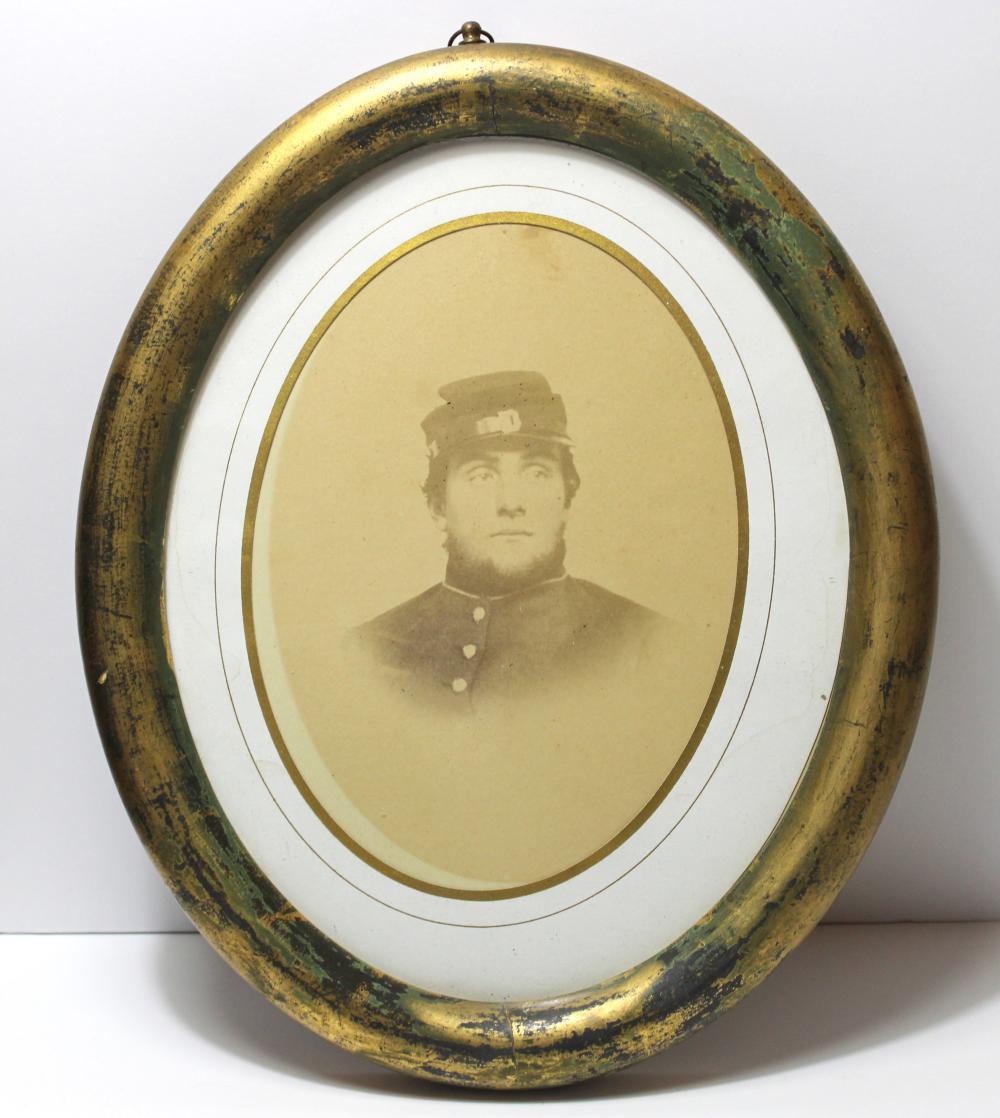 Civil War Framed Albumen of Soldier
