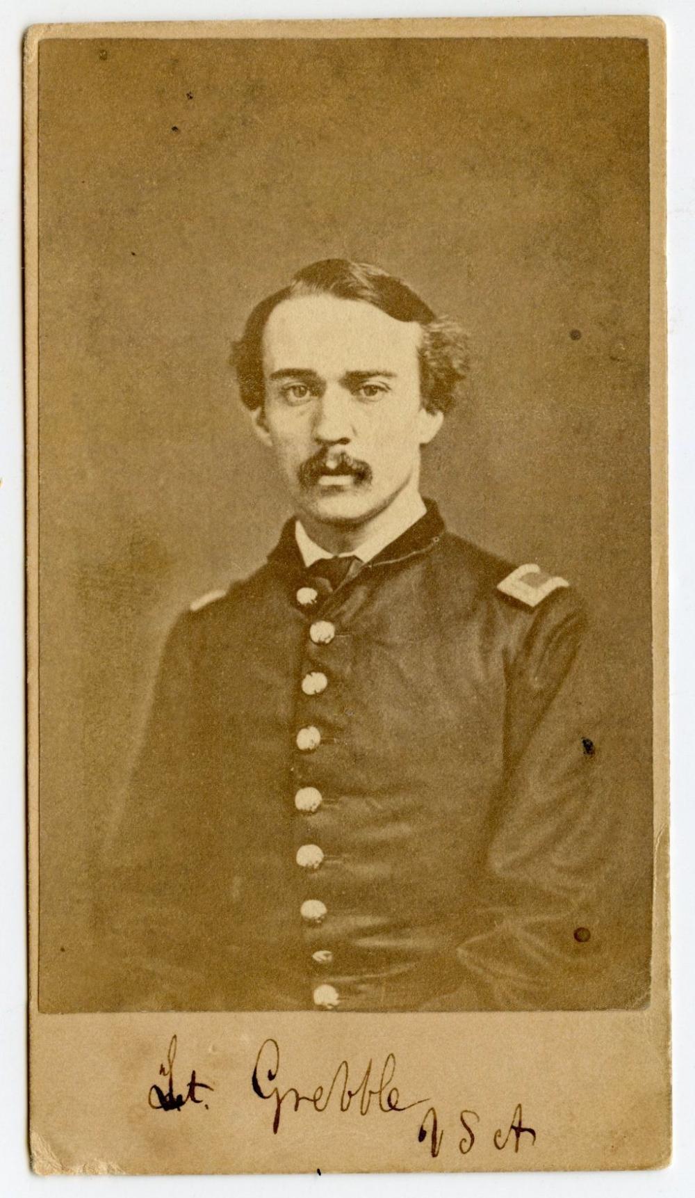 Civil War CDV Officer Killed at Big Bethel, VA