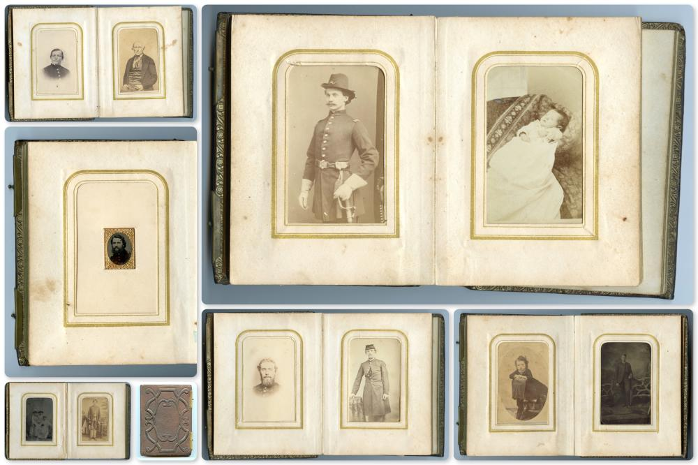 Civil War CDV Album- Six Soldier Images