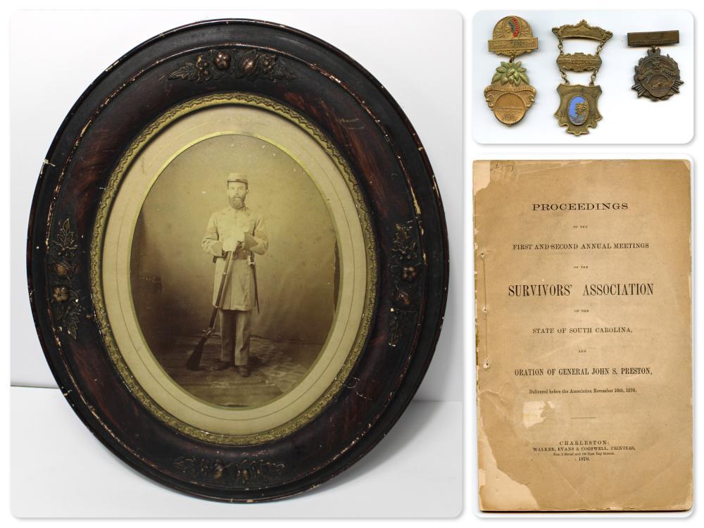 South Carolina Confederate Albumen, Medals, Pamphlet