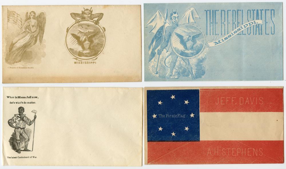 Rare Civil War Cover Lot (4)