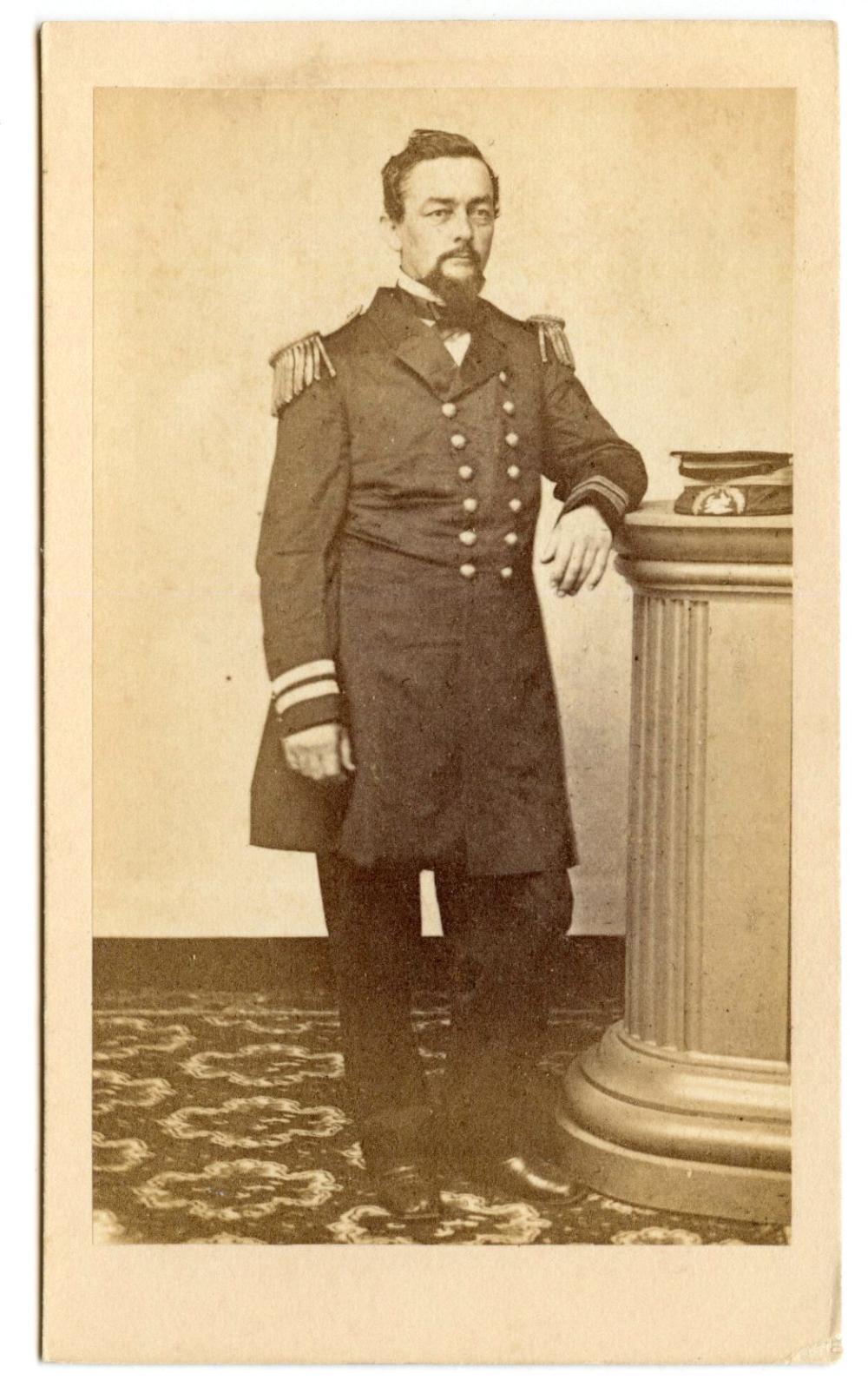 Civil War CDV of Leonard Paulding- Naval Hero
