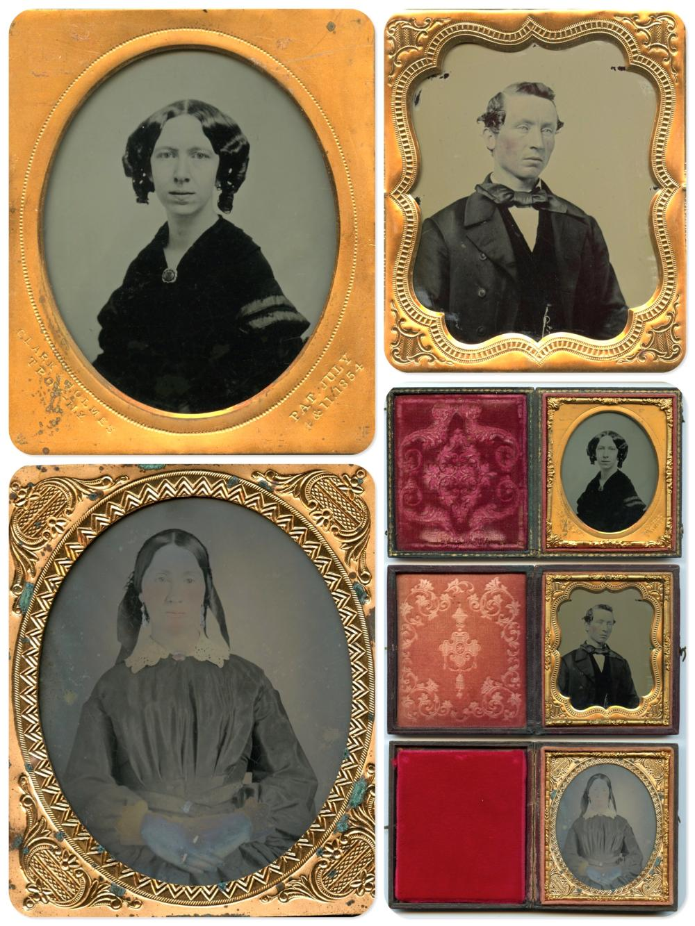 Trio of Fine Sixth Plate Portraits- One Named Photographer