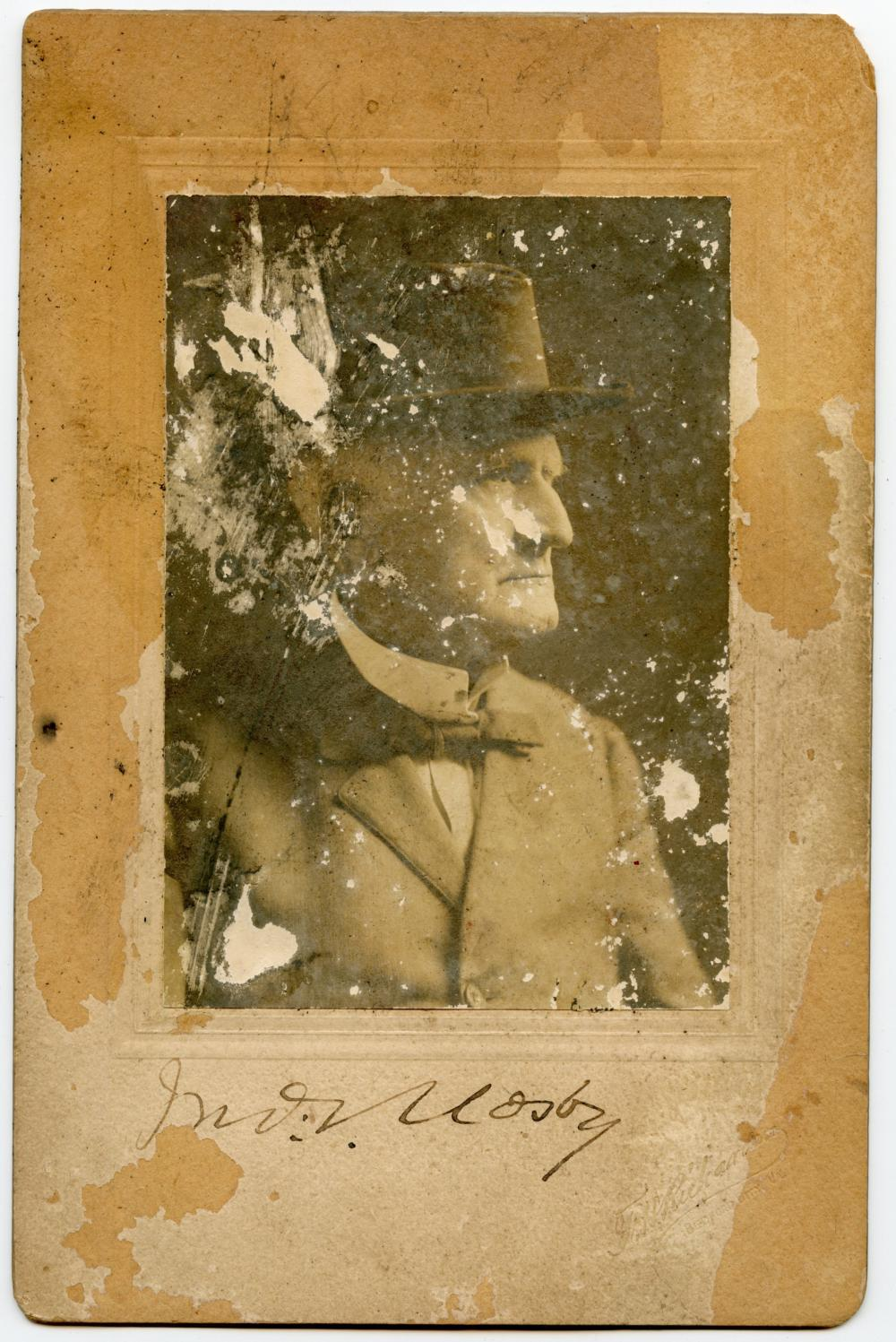 Signed John S. Mosby Photo, Confederate
