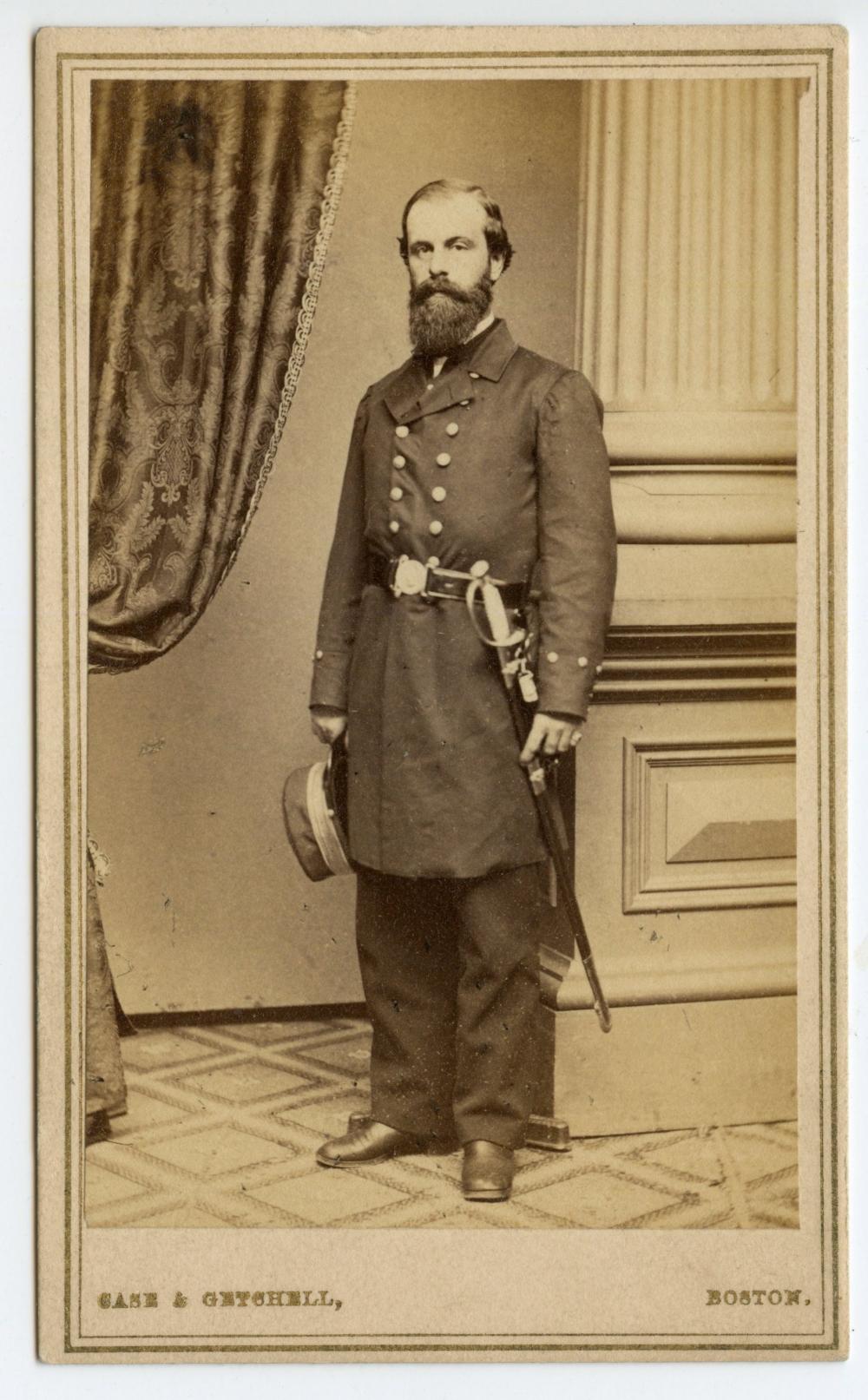 Striking Civil War Naval Officer CDV