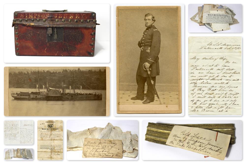 Incredible New England Whaler, Civil War Naval Officer Lot