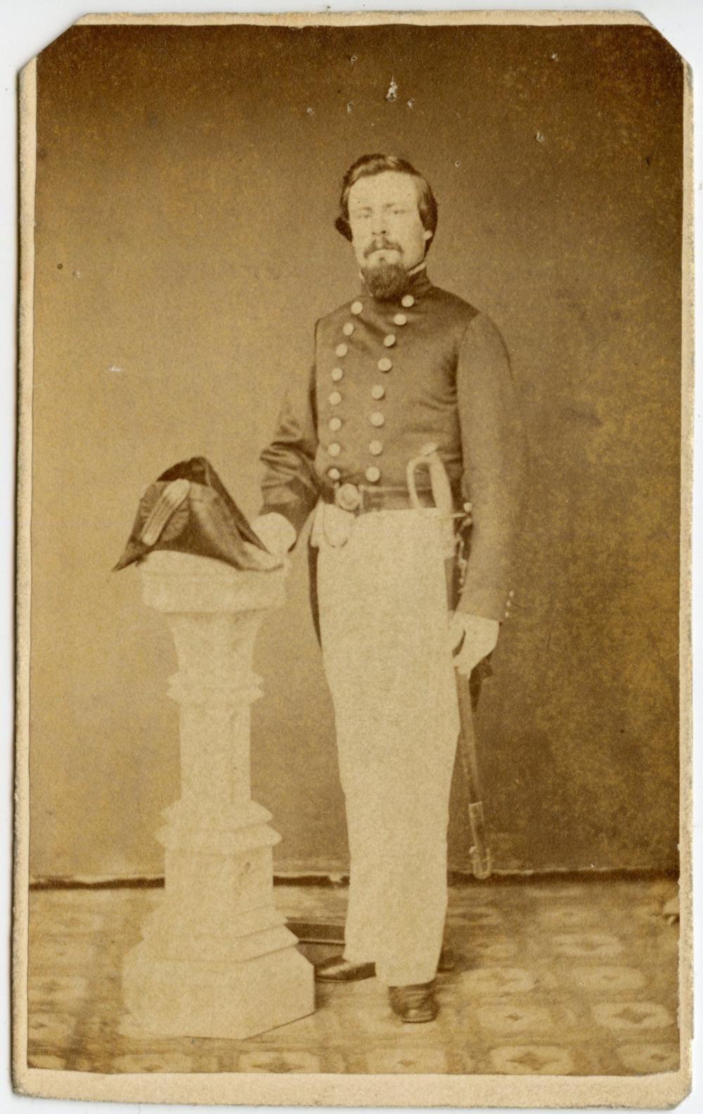 Gallant Civil War Naval Officer CDV
