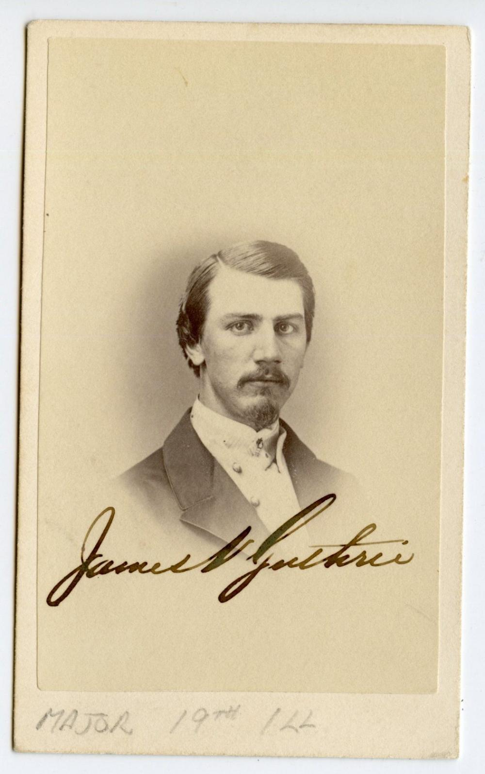 Major of the 19th Illinois, Civil War CDV