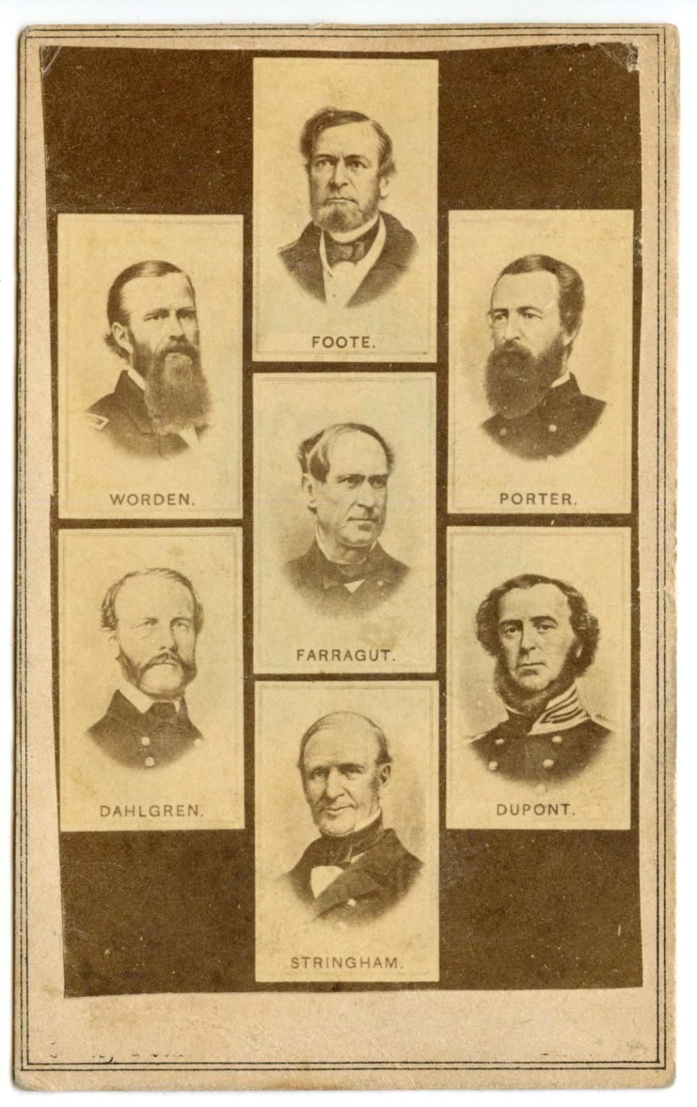 Civil War CDV of Naval Leaders
