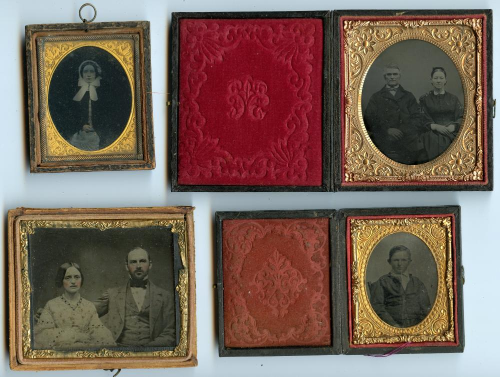 Another Group of Four, Two Ambrotypes and Two Tintypes