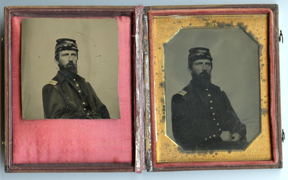 Civil War Tintype Portrait Holding