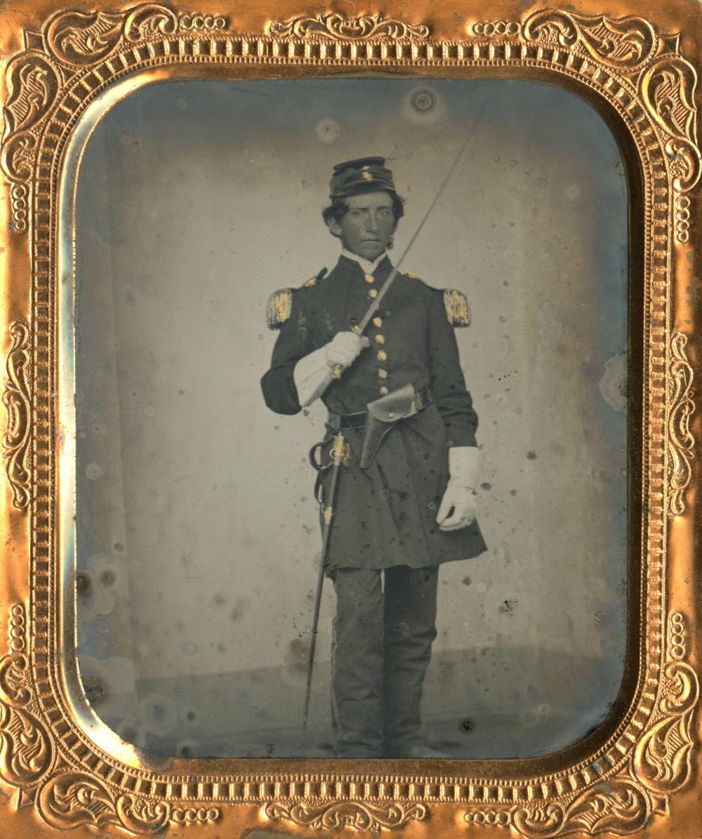 6th Plate Tintype Elegant Civil War Soldier