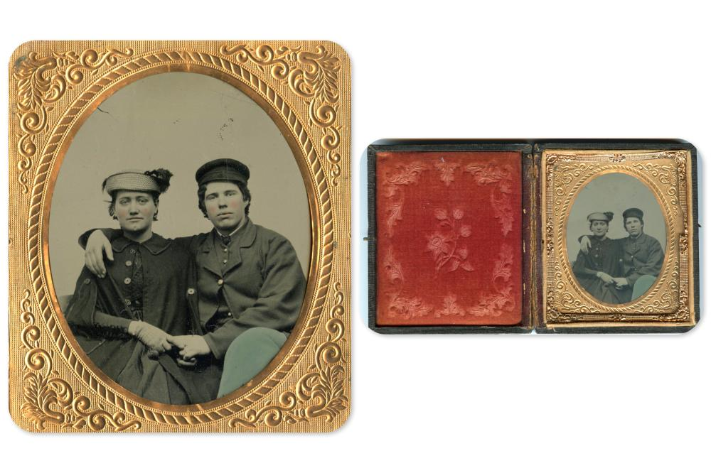 Civil War Soldier and Wife Tintype