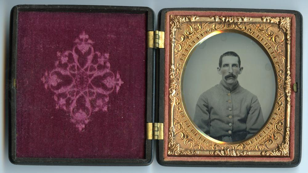 Crystal Clear Massachusetts Civil War Ambrotype