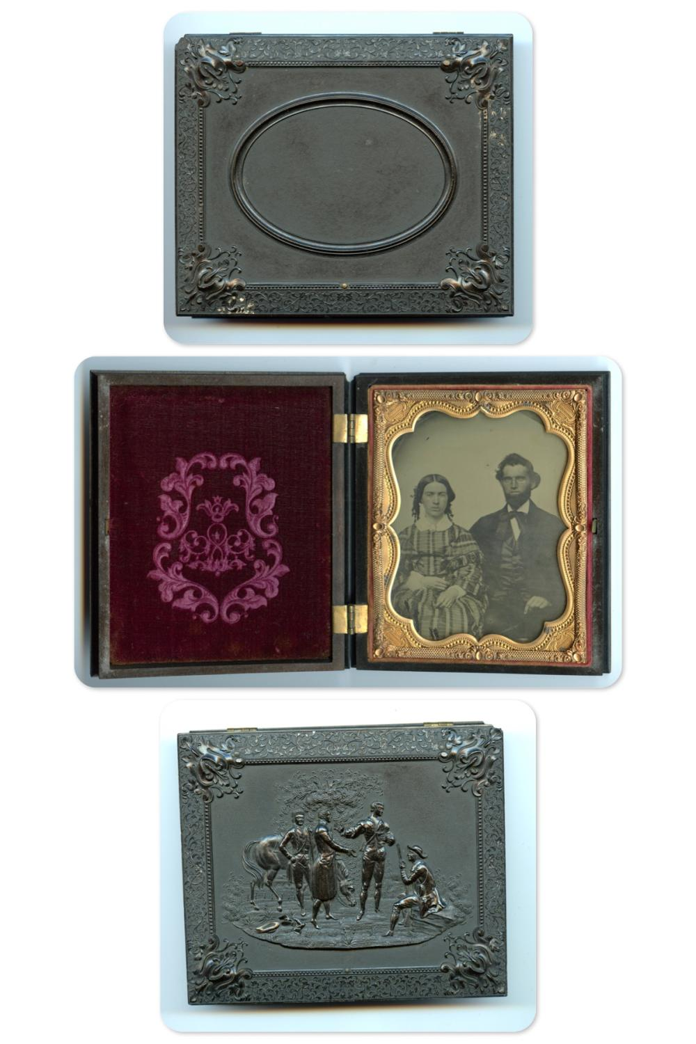 """Quarter Plate Ambrotype in """"Capture of Major Andre"""" Case"""