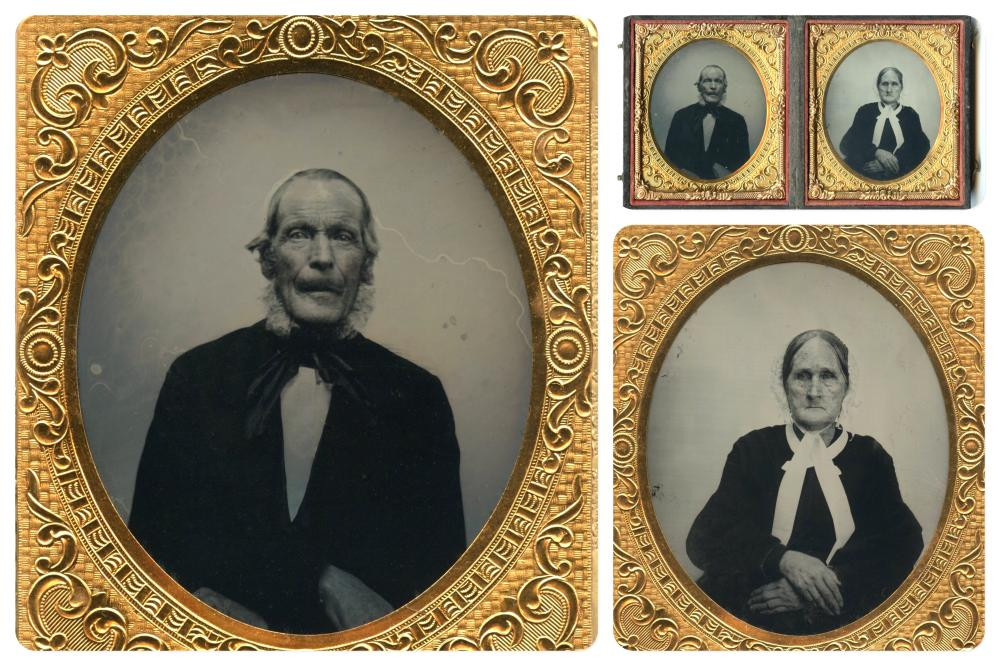 Two Portraits of an Elderly Couple Likely Born in the 18th Century