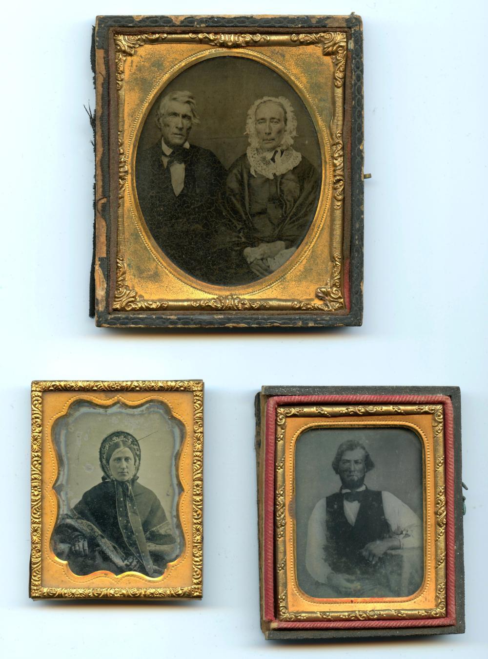 Group of Three Ambrotype/Tintype Portraits