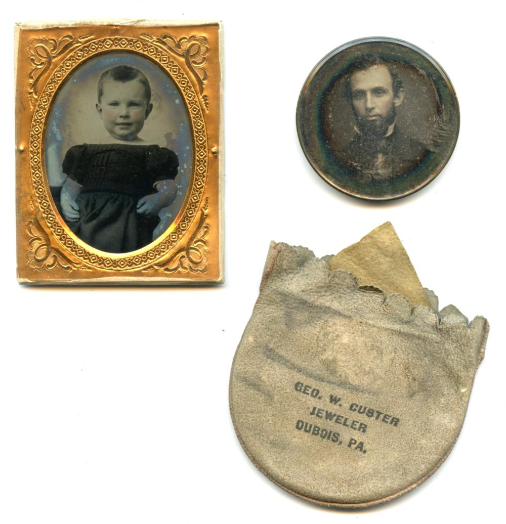 Ambrotype of Adorable Child and Daguerreotype Portrait