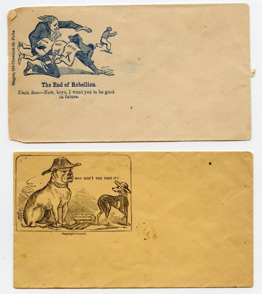Original Civil War Patriotic/Amusing Covers (2)