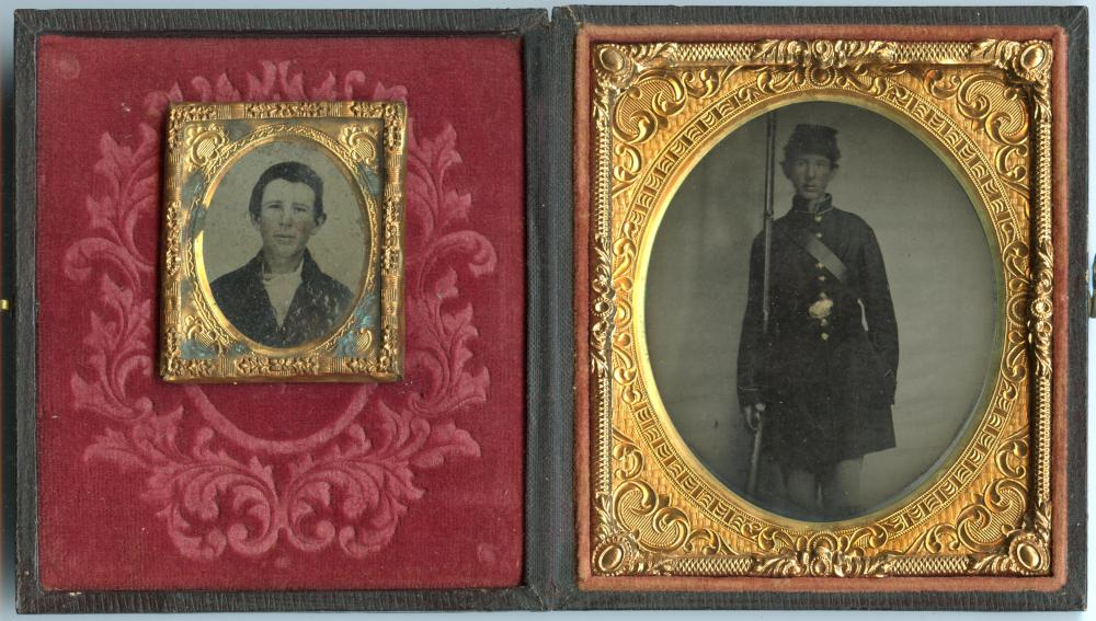 Very Young Civil War Soldier Tintype
